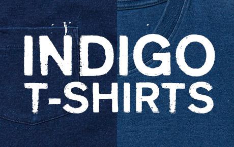 「色落ちデニム風」インディゴTシャツを販売開始!